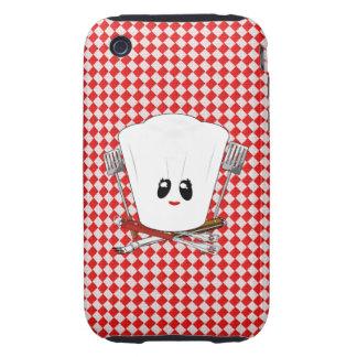 Gorra del cocinero de la mesa de picnic w Female y iPhone 3 Tough Coberturas