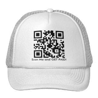 Gorra del código del afiliado QR
