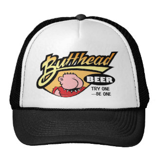 Gorra del color de la cerveza de ButtHead