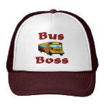 Gorra del conductor del autobús escolar.  Jefe del