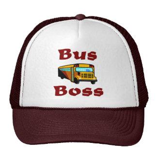 Gorra del conductor del autobús escolar Jefe del