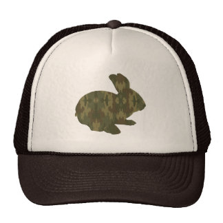 Gorra del conejito de pascua de la silueta del