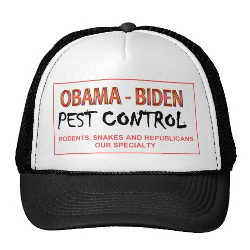 Gorra del control de parásito de Obama-Biden