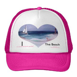 gorra del corazón de la señora rosada