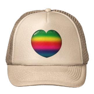 Gorra del corazón del arco iris