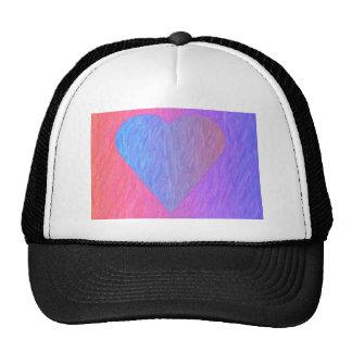 Gorra del corazón del bosquejo del lápiz