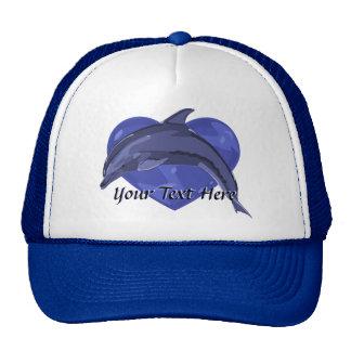 Gorra del corazón del delfín
