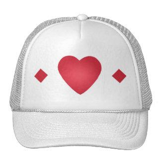 gorra del corazón y de los diamantes