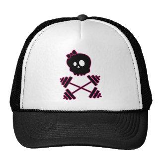 Gorra del cráneo de las señoras y del camionero de