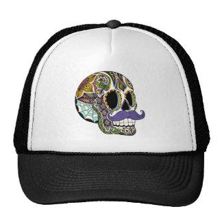 Gorra del cráneo del azúcar del bigote - versión