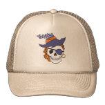Gorra del cráneo del pirata de la bruja