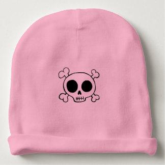 Gorra del cráneo y de la niña de la bandera pirata gorrito para bebe