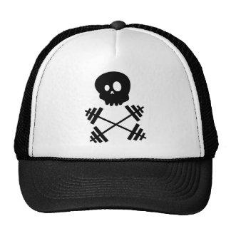 Gorra del cráneo y del camionero de los Barbells