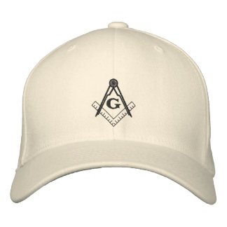 Gorra del cuadrado y del compás gorra de beisbol bordada