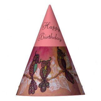 gorra del cumpleaños del búho gorro de fiesta