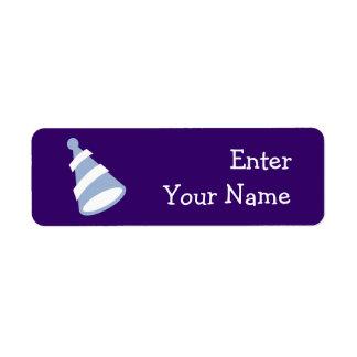 Gorra del cumpleaños etiquetas de remite