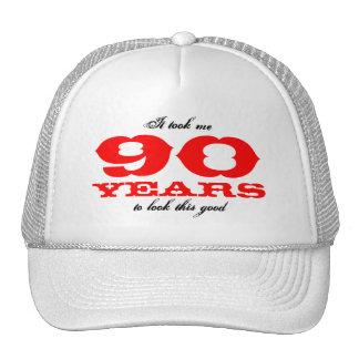 Gorra del cumpleaños para 90 la edad de los años |