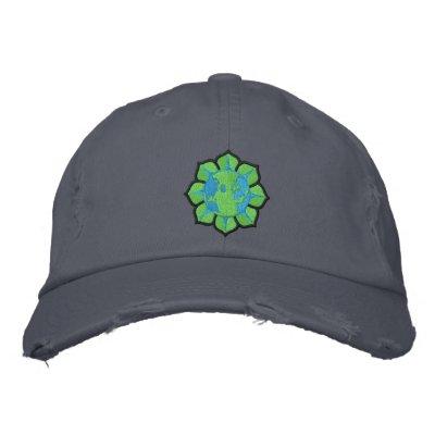 Gorra del Día de la Tierra de la flor de la tierra Gorra De Béisbol Bordada