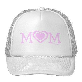 Gorra del día de madre con los corazones rosados
