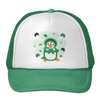 Gorra del día de St Patrick del pingüino del patsy