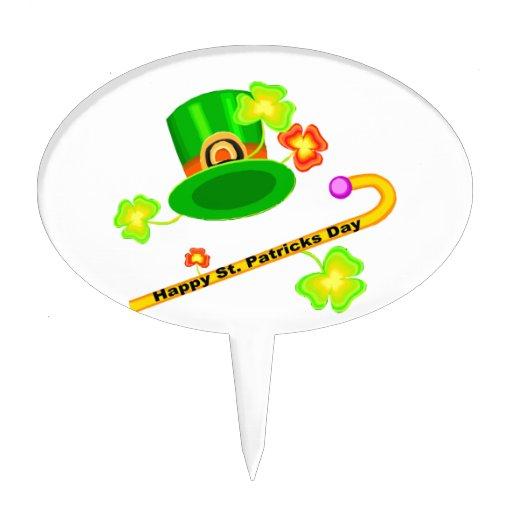 Gorra del día de St Patrick feliz y collage del ba Figuras Para Tartas