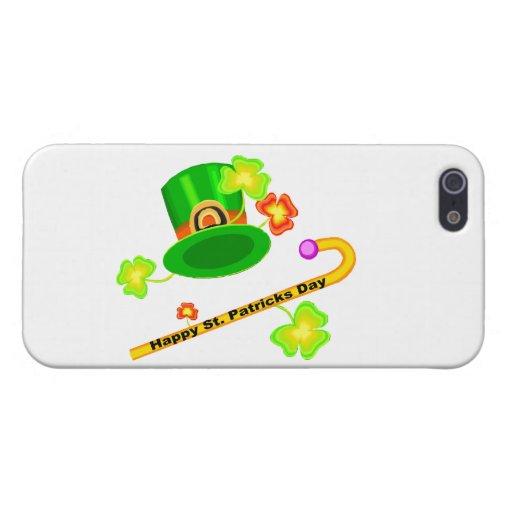 Gorra del día de St Patrick feliz y collage del iPhone 5 Carcasa