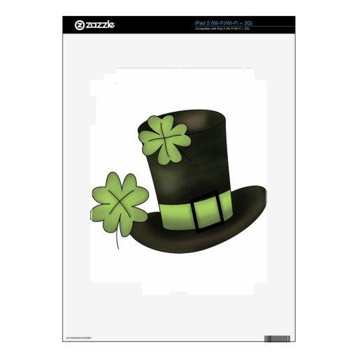 Gorra del día de St.Patricks Calcomanías Para El iPad 2