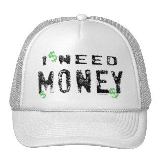 Gorra del dinero de la necesidad