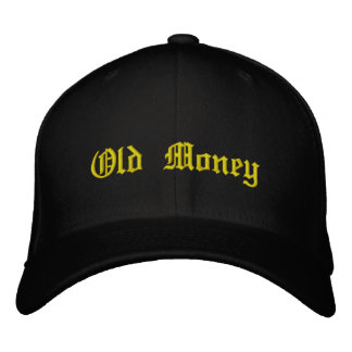 Gorra del dinero viejo gorras bordadas