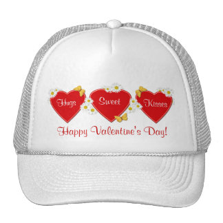 Gorra del el día de San Valentín de los corazones