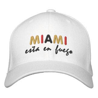 Gorra del en Fuego de Miami Esta Gorro Bordado