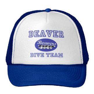 Gorra del equipo de la zambullida del castor