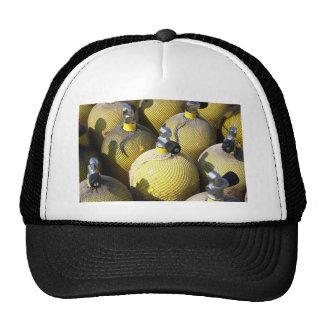 Gorra del equipo del buceo con escafandra