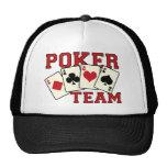 Gorra del equipo del póker