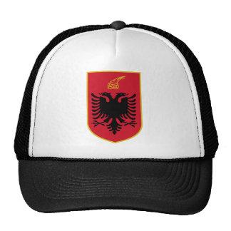 Gorra del escudo de armas de Albania