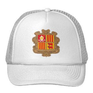 Gorra del escudo de armas de Andorra