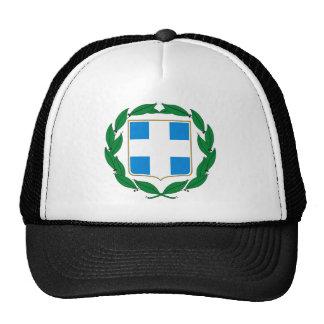 Gorra del escudo de armas de Grecia