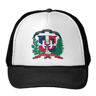 Gorra del escudo de armas de la República Dominica