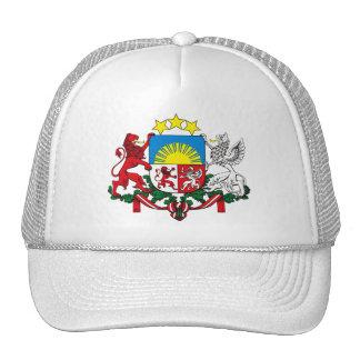 Gorra del escudo de armas de Letonia