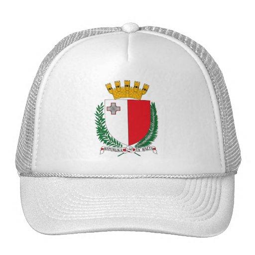 Gorra del escudo de armas de Malta