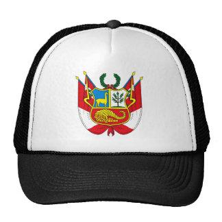 Gorra del escudo de armas de Perú