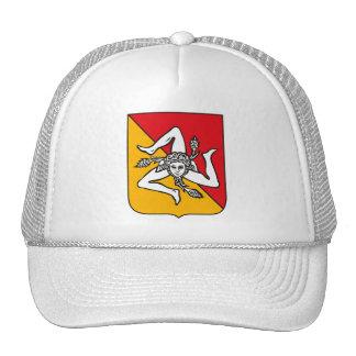 Gorra del escudo de armas de Sicilia