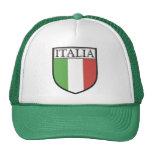 Gorra del escudo de Italia/casquillo de la bandera