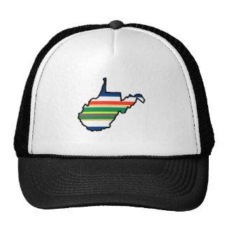 Gorra del estado de Virginia Occidental - rayas