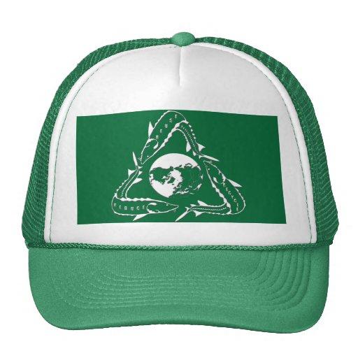 Gorra del esturión - recicle el verde