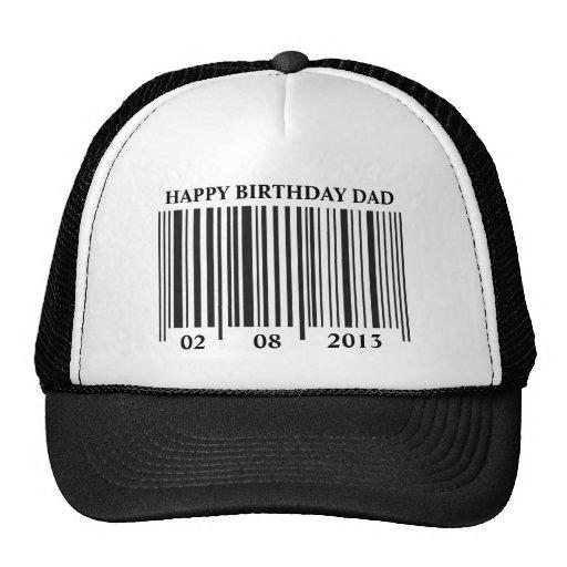 Gorra del feliz cumpleaños del código de barras