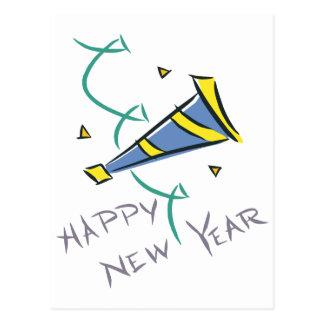 Gorra del fiesta de la Feliz Año Nuevo Tarjeta Postal