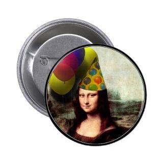 Gorra del fiesta de Mona Lisa que lleva Pin Redondo 5 Cm