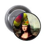 Gorra del fiesta de Mona Lisa que lleva Pins