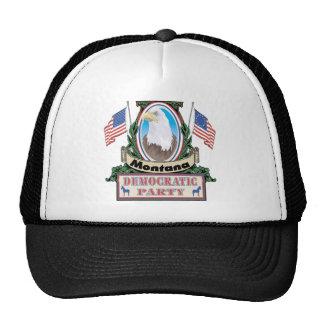 Gorra del fiesta de Montana Demócrata